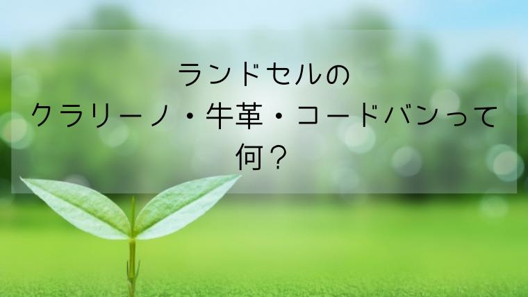 ランドセル素材☆違いを詳しく!クラリーノ・牛革・コードバン解説☆